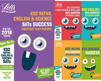 Letts Year 6 KS2 SATs Exam Revison Pack [5 BOOKS]