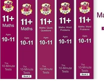 CGP CEM 11+ 10 minute Maths Tests Age 10-11 [5 Books] FREE P&P