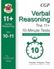 CGP CEM 11+ 10-Minute Tests (Age 10-11) Verbal Reasoning Book 1