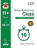 CGP CEM 11+ 10-Minute Tests (Age 10-11) Verbal Reasoning: Cloze (Book 2)