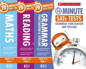 Year 1 SATs [3 Books] 10 Minute Tests. KS1 SATs English, GPS and Maths
