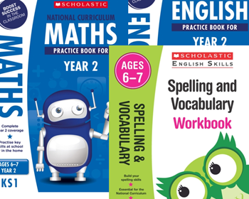 Scholastic Year 2 Learning Pack [3 BOOKS] KS1 SATs English and Maths with FREE P&P