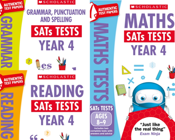 KS2 YEAR 4 MOCKS KS2 SATS PRACTICE TESTS [3 BOOKS] FOR ENGLISH & MATHS