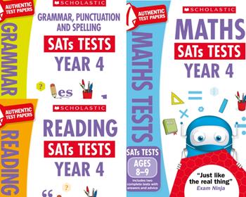 KS2 YEAR 4 MOCKS KS2 SATS PRACTICE TESTS [3 BOOKS] FOR ENGLISH & MATHS