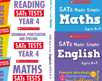 YEAR 4 EXAM PACK [5 BOOKS] KS2 SATS REVISION BOOKS & PRACTICE TESTS FOR MATHS & ENGLISH